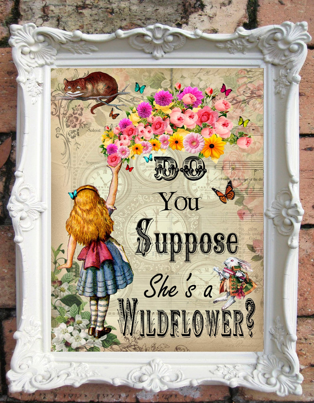 Alice In Wonderland Quote Art Print Alice In Wonderland