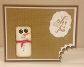 Toasted Marshmallow, S'mores Christmas Card