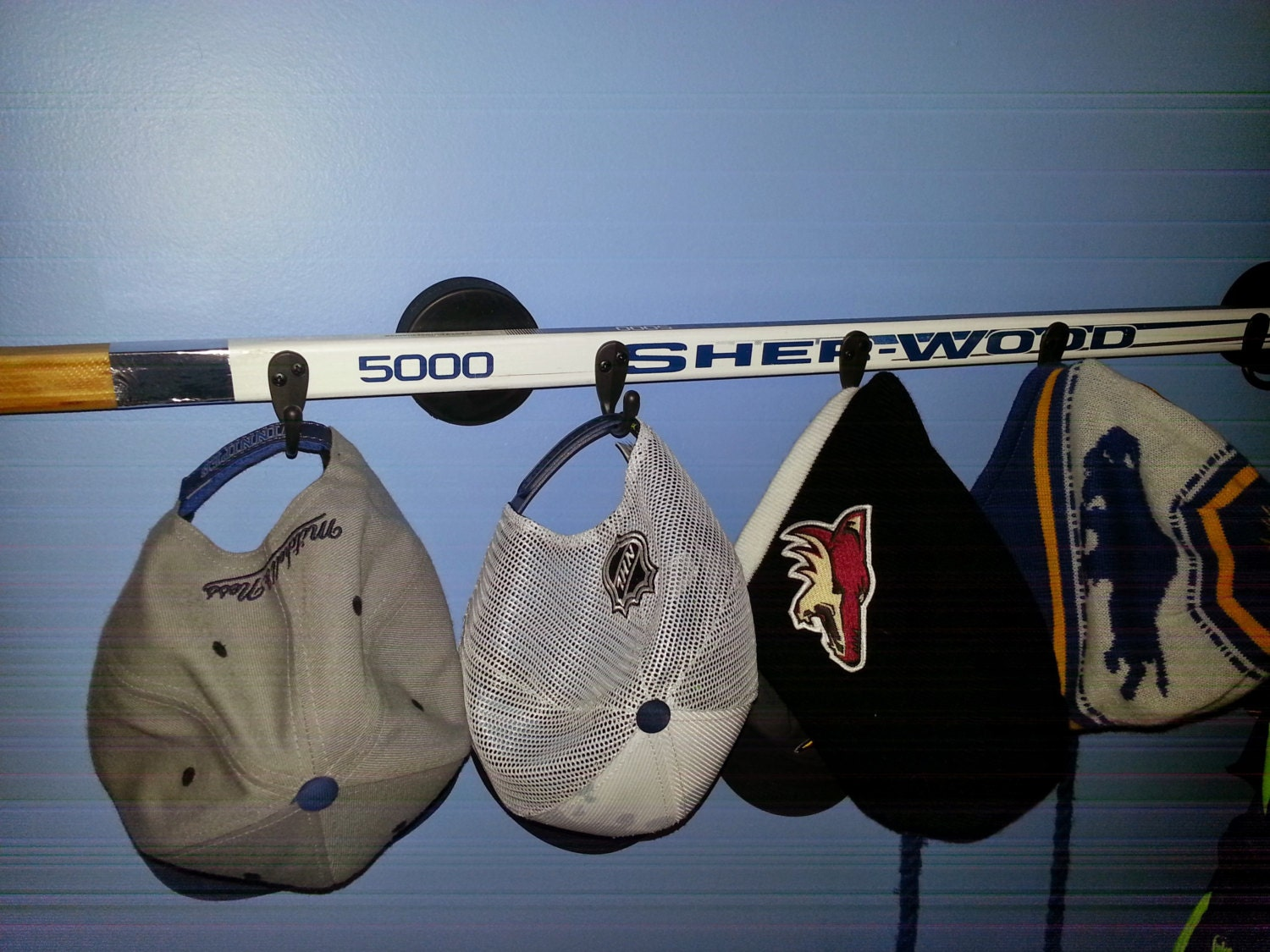 Hockey Stick Hat Coat Rack