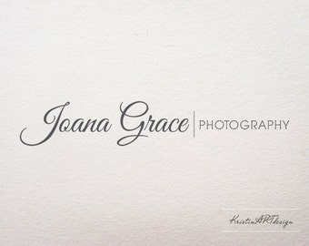 Photography logo, Handwritten logo, Premade logo, Black and white logo, Logo design, Script Logo, Watermark 198