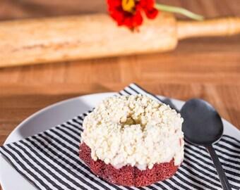 6 Miniature Red Velvet Bundt Cakes - Homemade baked goods