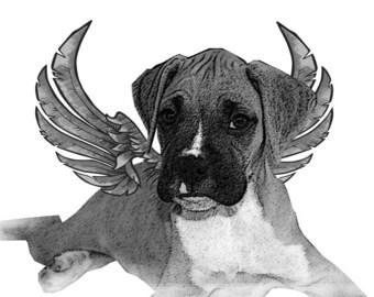 Hotfix/Iron on Boxer Puppy