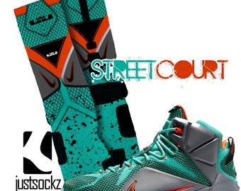 Custom Nike Elite Lebron Street Court Socks