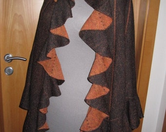 Handmade beautiful fall color shawl/wrap
