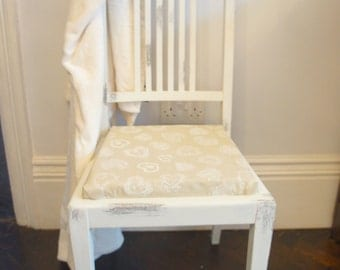 Dinning chair, shabby Chic chair, vintage chair set of 2