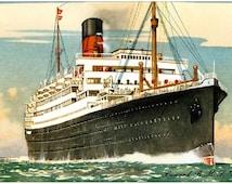 RMS Scythia Cunard Line reproduction promotional postcard
