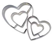 STADTER / Cookie cutter / DOUBLE HEART / Metal cookie cutter