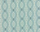 Nomad Fabric from Urban Chiks for Moda Fabrics.  Aztec Diamond Stripe in Sky Blue