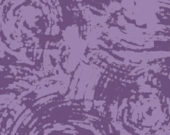 Sale, Mosaic Fabric,1/2 yd+ Marcia Derse Batik Fabric for Windham Fabrics, Purple Hyacinth Swirl