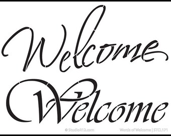 Words of Welcome Stencil -Select size by StudioR12