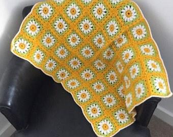 Crazy Daisy baby blanket