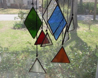 Elements in Stained Glass hanging mobile Chime
