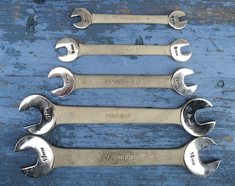 5 Wrenches Stainless Steel Vanasam Series, 5 Piece Double-End Flare Nut Wrench Set, Double Head Open End Wrenches, Do-it-Yourself, Men Gift