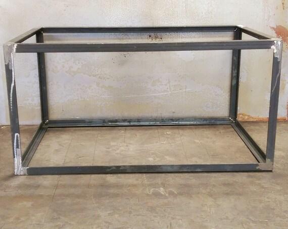 Angle Cube Metal Table Base