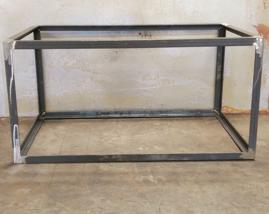 Angle cube metal table base Metal table base