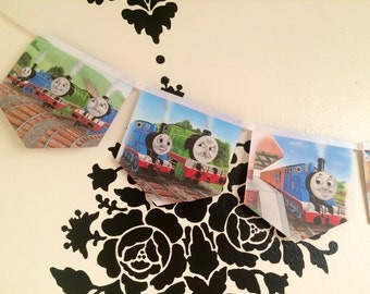 Thomas the Train banner recycled book