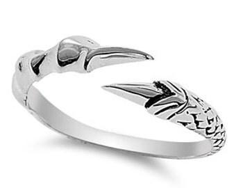 Eagle's Claw Ring Sterling Silver 925