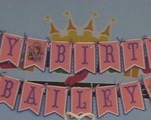 Sophia The First Happy Birthday Banner