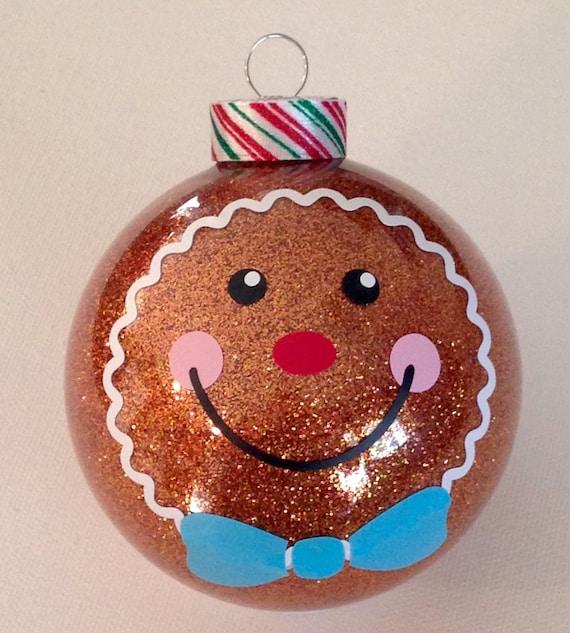 Items similar to Gingerbread Boy Christmas Glitter ...