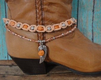 Boot Bracelet - Boot Chain - Boot Jewelry - Western Bracelet - Beaded Boot Bracelet - Boot Bling - Southwest Bracelet - Boot Accessories