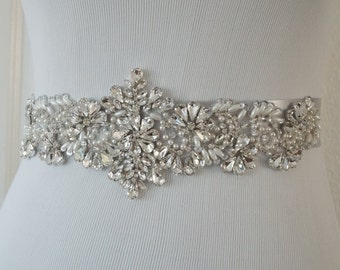 Wedding Belt, Bridal Belt, Sash Belt, Crystal Rhinestone, Style 177