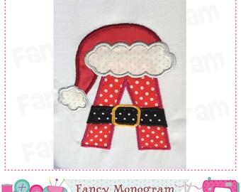Christmas Monogram A applique,Santa Claus Letter A applique,A,Santa Claus design,Christmas,Font A,Santa Claus,A,Christmas applique.-02