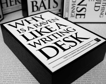Framed Quote: Why is a Raven like a Writing Desk