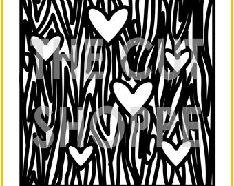 The Wood You Be Mine background cut file is available in 8.5x11 and 12x12 sizes, for your scrapbooking and papercrafting projects.