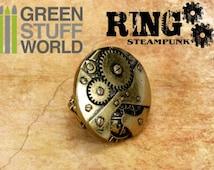 SteamPunk Gear&Cogs RING - Self-adjusting