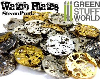 Watch Movements PLATES - Pocket Watch Body Parts Frames - Altered Art Assemblage