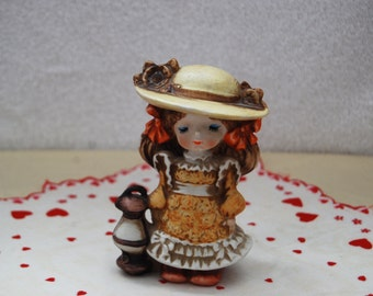 Vintage Little Girl with Lantern  UCCTI Japan