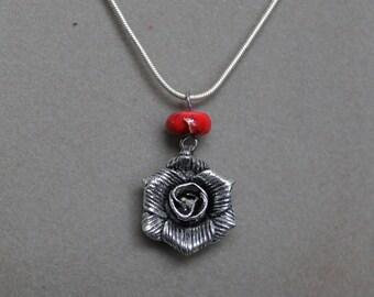 Rose Pendant Necklace