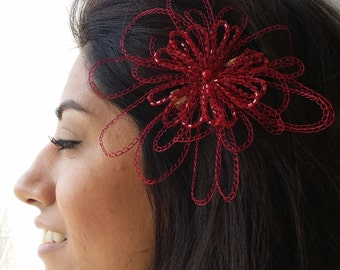 Daydreamer - Metal Lace - Crocheted Wire Hair Clip - Crocheted Wire Barrette