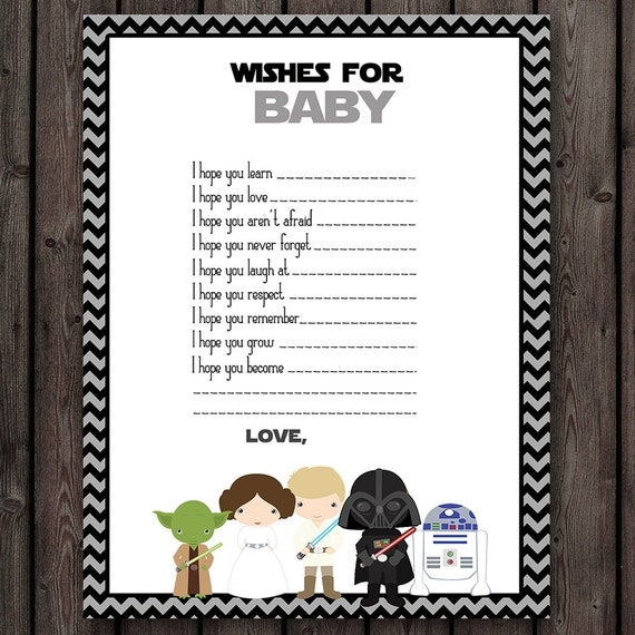 starwars baby shower wishes for baby star wars baby shower game