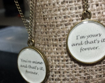 Avett Brothers His and Hers or Best Friend Necklaces