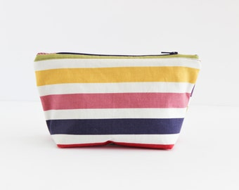 Multi Colored Stripe Cosmetic Bag | Shannon Fraser Designs