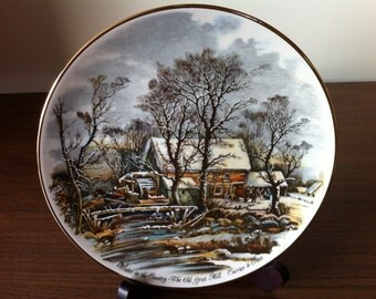 Currier & Ives Vintage Autumn and Winter Plates