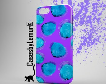 LEOPARD Iphone case Blue Iphone 6 case Purple Iphone 5 case Designer Iphone 6 plus case Watercolor Iphone 5C case Bright Iphone 5s case