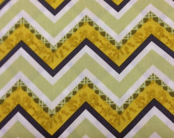 Lilly Belle Fabrics by Bari J for Art Gallery Fabrics Premier Quilting Cotton LB 1103 Vintage Fence Lime Half Yard cut and Yardage Available