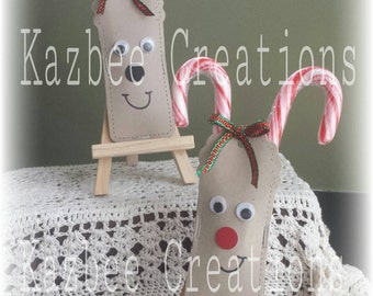 Pack of 10 CANDY CANE REINDEER Perfect as teacher/class or workmate gifts.