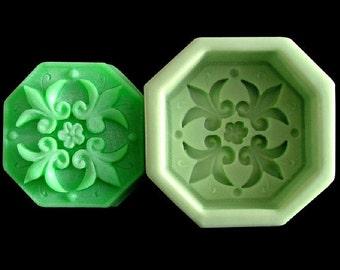 Fleur De Lis Soap Mold Flexible Silicone Mold For Handmade Soap Candle Candy Cake