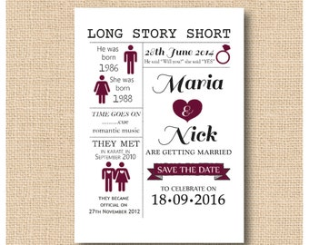 Love Story Wedding Invitations / Save The Dates