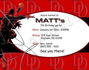 Daredevil Birthday Invitation - Printable