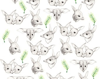 Bilbies Fabric Print - Fat Quarter
