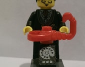 Custom Lego Salvador Dali minifigure with lobster telephone