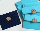 Cookie Monster ENVELOPES ONLY. Great for thank you notes, birthday invitations, or just stationary for your little one! Sets of 10.