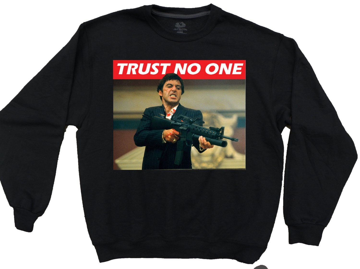 Scarface Trust No One Tony Montana Cool Fresh Mens