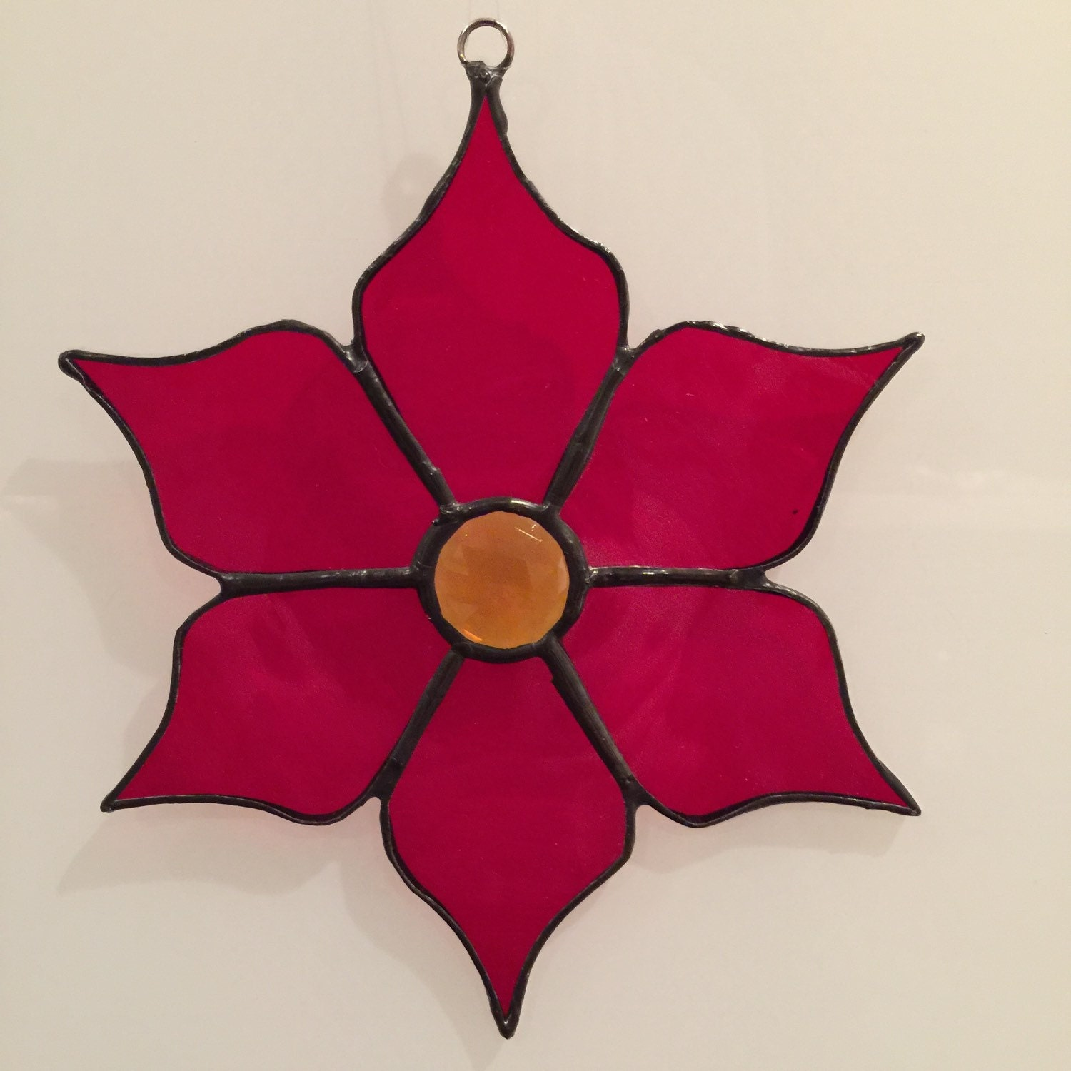 Poinsetta stained glass the christmas flower