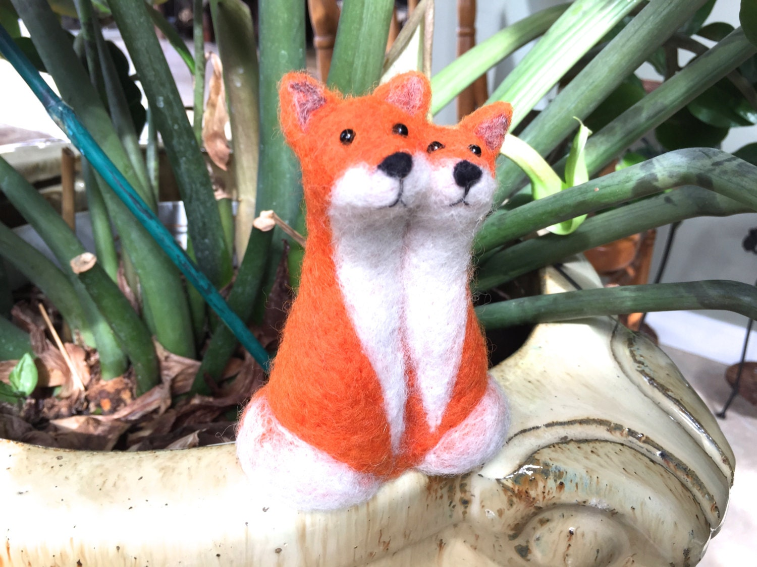 Needle felted Fox wedding cake topper fox cake topper by