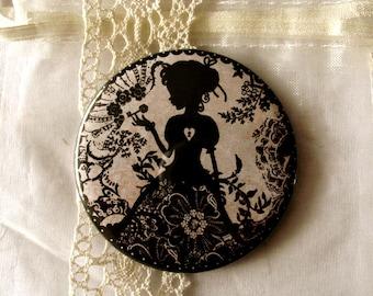 Pocket Mirror - illustrated mirror - heart - love - Miss Shadow - My  Love